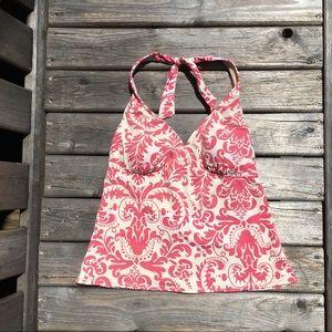 Lands' End Floral Print Swim Top